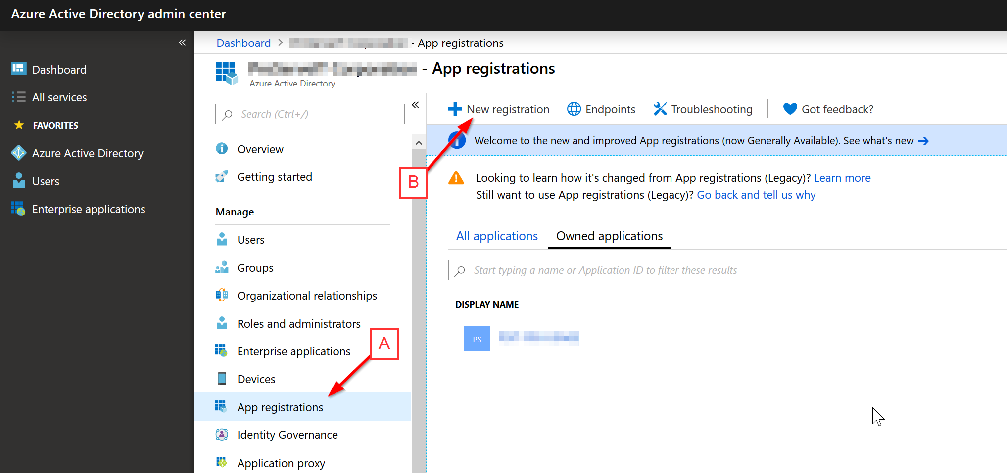 Create Azure AD Application
