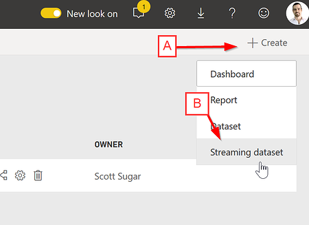 Create Power BI Streaming Dataset