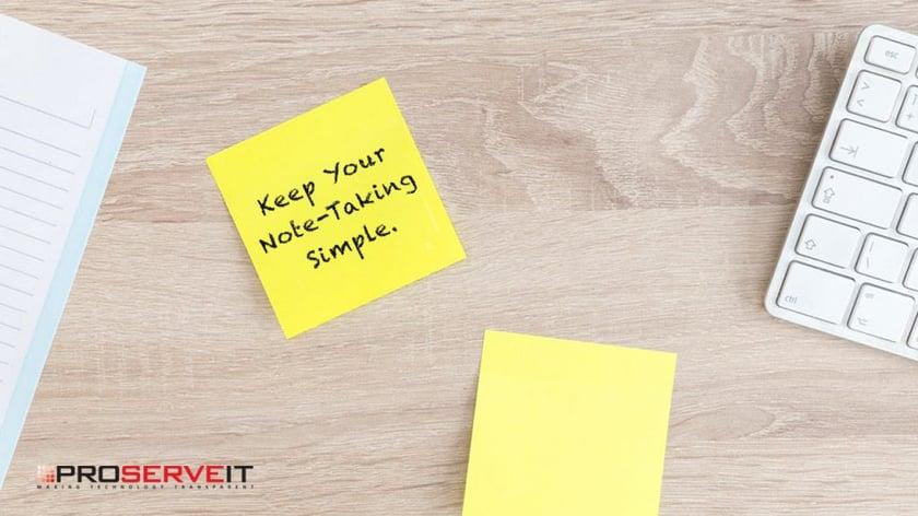 Keep Note-Taking Simple