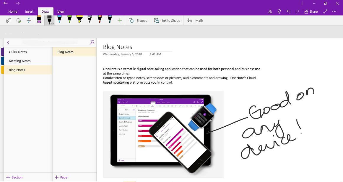 best note-taking app: OneNote vs. Evernote