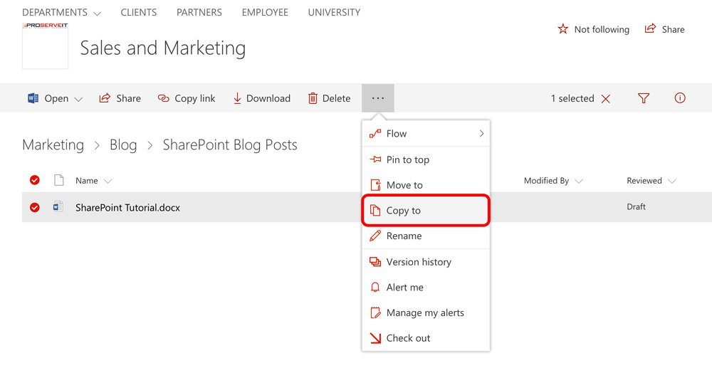 SharePoint: How to Copy and Move Files and Folders