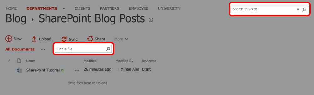 SharePoint Tutorial Tip: Searching for a Document