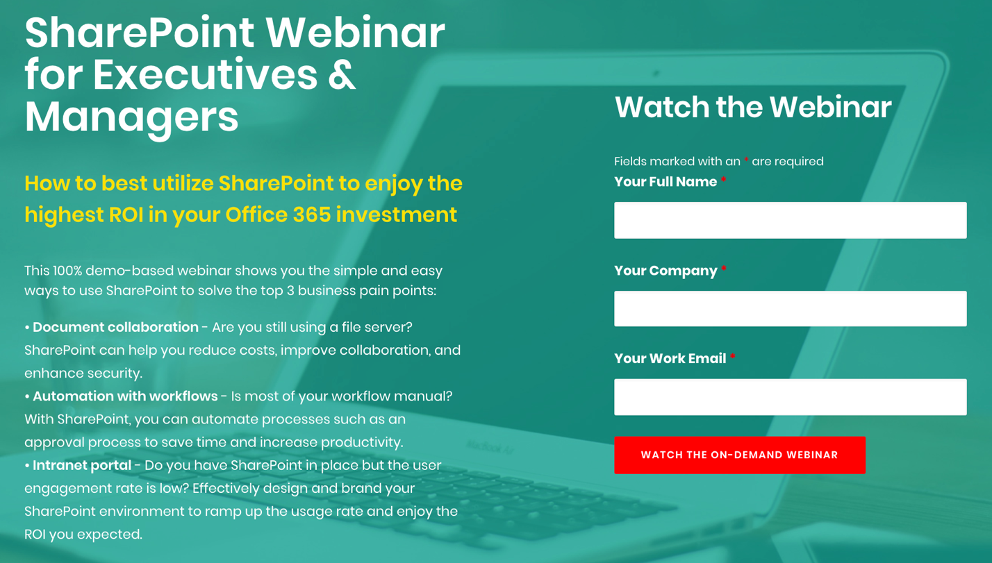 SharePoint Webinar for Executives and Managers