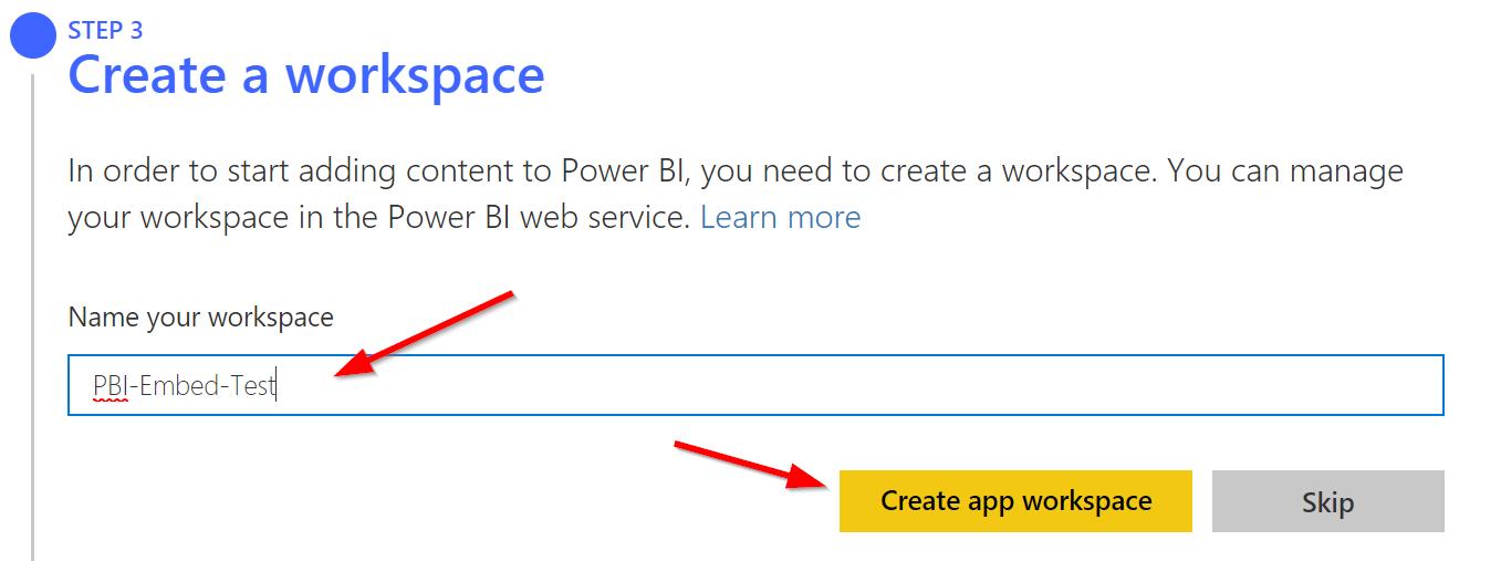 Set up your Power BI Embedding Environment