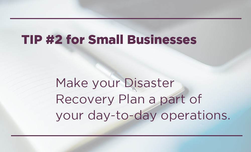 disaster recovery plan for small businesses