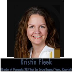 Kristin Fleek, Microsoft fundraising