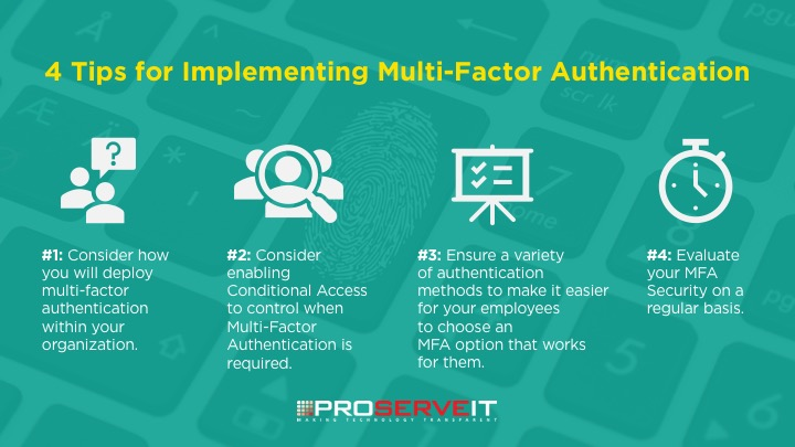4 tips for implementing multi-factor authentication