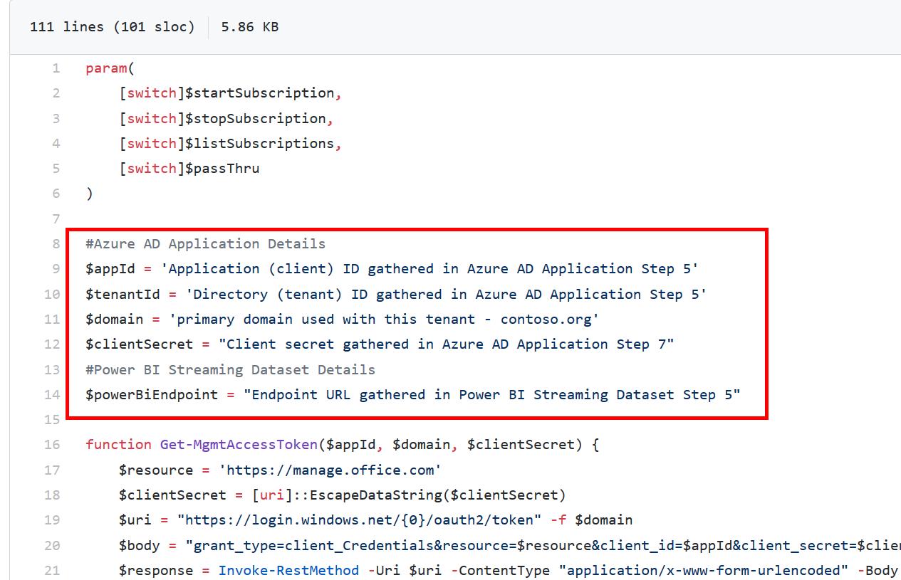PowerBIUsage Script - Update Script