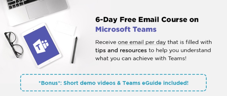 free email course on Microsoft Teams