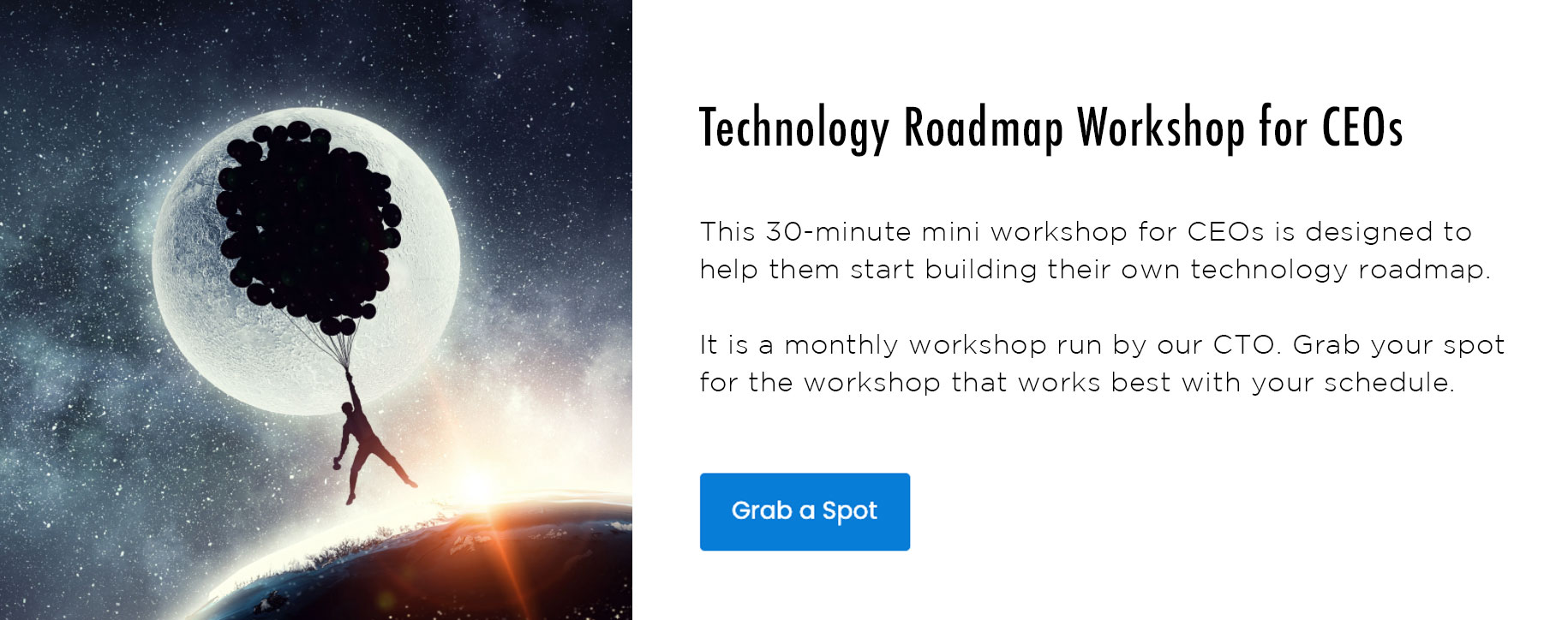 Monthly Technology Roadmap Workshop for CEOs
