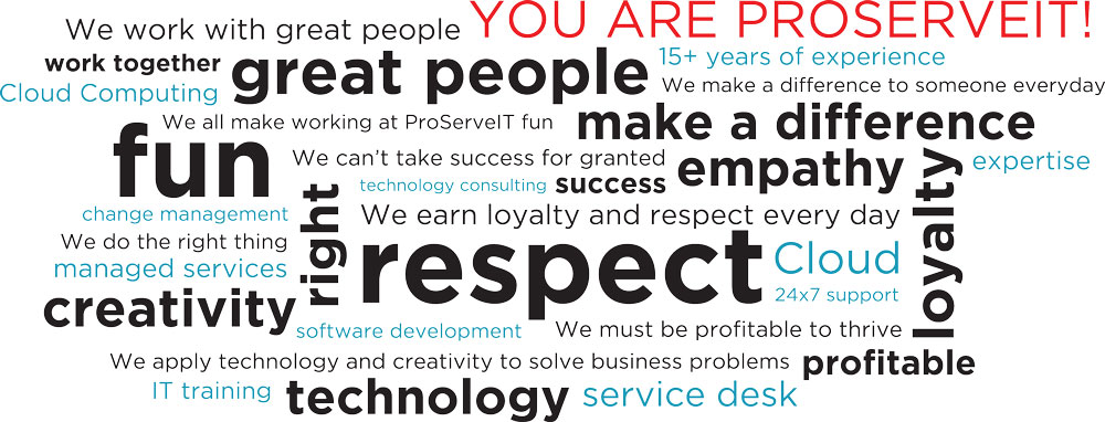 ProServeIT Values