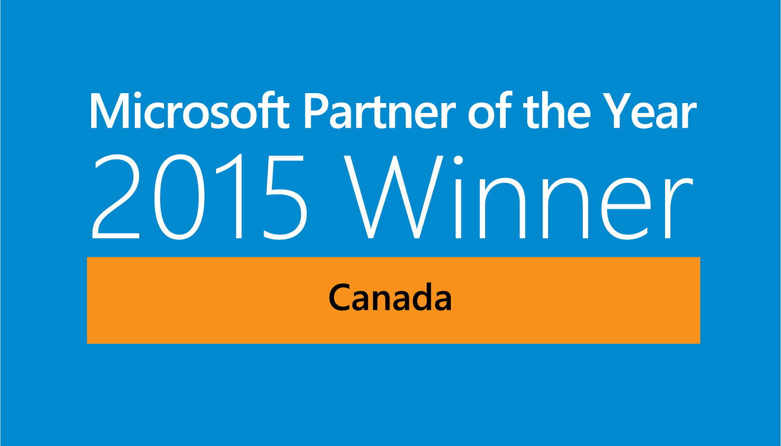 2015 Microsoft WPC Partner of the Year: Canada